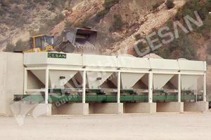 Cold Aggregate Bin Feeders Conveyor Belts